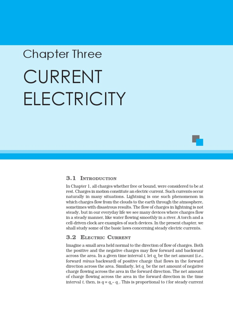 current electricity.pdf | Electrical Resistivity And Conductivity ...