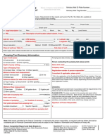 Pumping Test Form