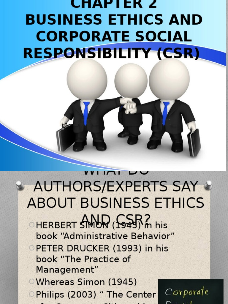 Ethics-Chap2- Business Ethics and CSR Compared