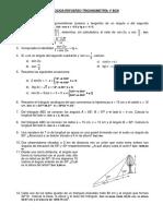 Ejercicios Refuerzo Trigonometría 1º Bcn