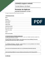 Formular Aplicare Specialist Angajare Asistata