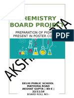Chemistry Board Project CLASS 12 CBSE PAINTS PIGMENTS POSTER COLOURS