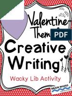 Share - Valentine Creative Writing