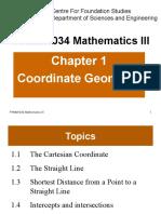 FHMM1034 Chapter 1 Coordinate Geometry 201610 Standardised 1