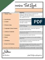 Text Level Checklist