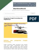 Pengertian Freight Forwarding Dan kegiatanya