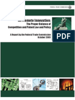 To Promote Innovation the Proper Balance of Competition and Patent Law and Policy by FTC and DOJ