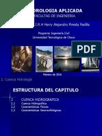 Curso Hidrologia Cuenca Hidrografica - CAPITULO SEGUNDO -1 -1