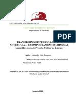 Transtorno de Personalidade Anti-social e Comportamento Criminal - Lukamba Joaquim - Angola