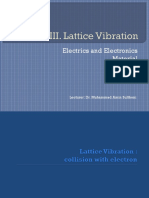 III Lattice Vibration
