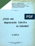 1920-Degeneración Colectiva en Colombia.