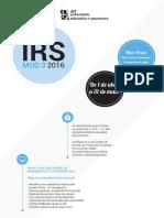 Folheto Infor IRSmod3 2016