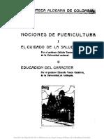 1935- Nociones de Puericultura