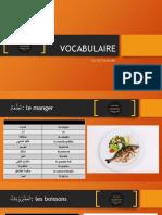 Vocabulaire Alimentation