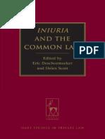 (Hart Studies in Private Law) Eric Descheemaeker, Helen Scott-Iniuria and the Common Law-Hart Publishing (2013)