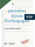 Bled, Premières leçons d'orthographe CE1 (1985)