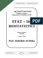 Note-145 Biostat Prof. Abdullah Al-shiha