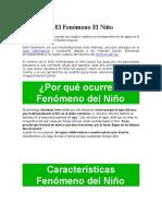 Qué Es El Fenómeno El Niño