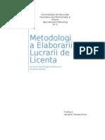 Metodologia Elaborarii Lucrari de Licenta
