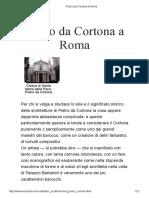 Pietro Da Cortona a Roma