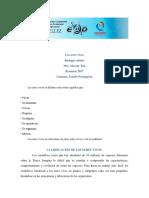 BIOLOGÍA VEGETAL Clasificación de Los Seres Vivos (1)