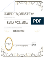 Certificate of Appreciation 08