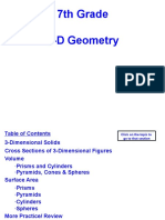 3D_Geometry Notes and Lesson 7th Grade
