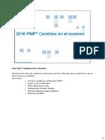 Cambios Certificacion PMP .IMPORTANTE