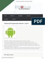 Tutorial de Programação Android – Lição 1