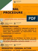 HLAF Criminal Procedure Tagalog