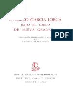 García Lorca - Bajo el cielo de la Nueva Granada