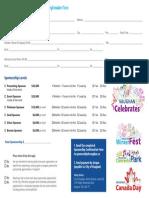 Sponsor Form 2015