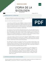 Historia de la psicología UNED