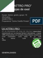 """Corel """"QUATTRO PRO"""" Tipos de Hojas de Exel"""