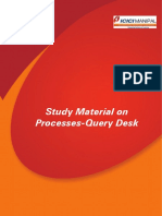 Study Material on Processes-Query Desk