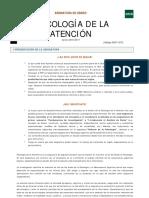 Psicología de la atención. UNED