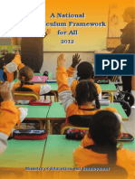 A National Curriculum Framework for All - 2012