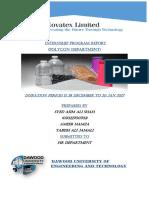 Novatex Limited Internship Report