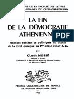 La Fin de La Démocratie Athénienne - Mossé