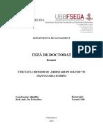 Utilit. Met.de Orientare Pe Solutie in Dezv ECHIPEI