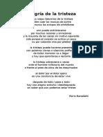 Alegría de La Tristeza - Mario Benedetti