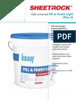 Sheetrock Fill & Finish Light