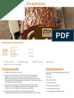 Tronco de Tiramisu - Nestlé Cocina