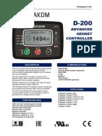 1. Manual de Operação Do Módulo D- 200