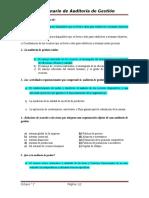 Cuestionario Auditoría de Gestión