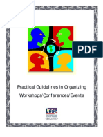 Practical Guidelines in Organizing and Managing Workshops, Conferences and Events