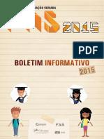 Boletim Informativo PAS 2015