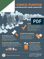 Guía de cinco puntos para mejorar la información sobre migración