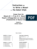 Instructions on How to Write a Minuet