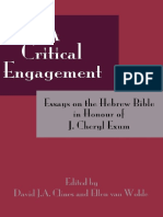 (Hebrew Bible Monographs 38) David J. a. Clines, Ellen Van Wolde-A Critical Engagement_ Essays on the Hebrew Bible in Honour of J. Cheryl Exum-Sheffield Phoenix Press (2011)